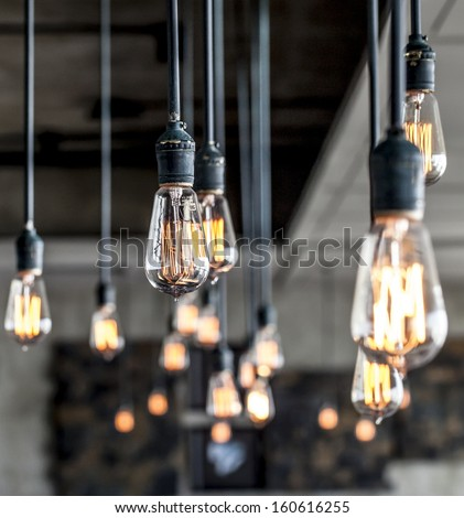 beautiful lighting decor - stock photo