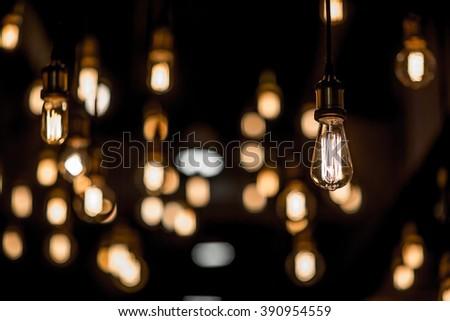 beautiful lighting decor - stock photo