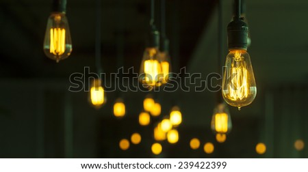 beautiful lighting decoration - stock photo