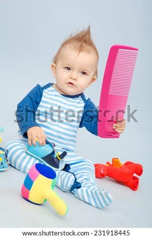 beautiful little baby - stock photo