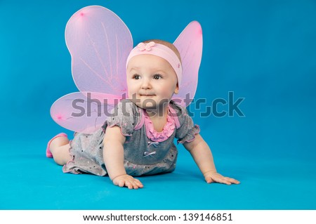 beautiful little baby in costume