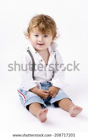 Beautiful little boy  - stock photo