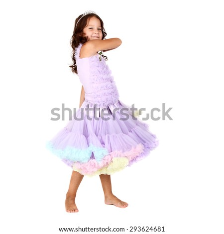 beautiful little girl in a festive dress