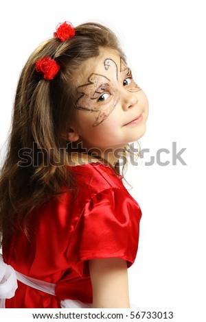 beautiful little girl 6 years - stock photo