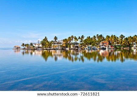 beautiful living area in the Keys - stock photo
