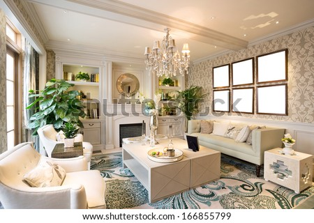 Beautiful Living room  - stock photo