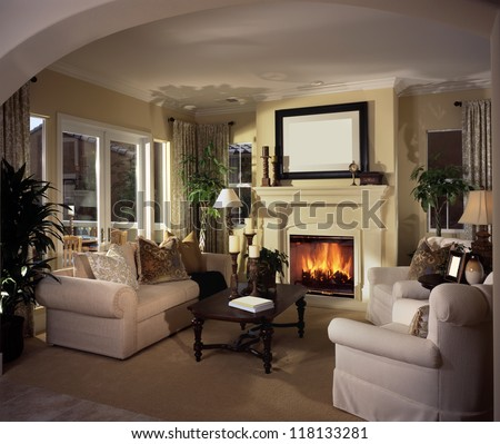 Fireplace Scene Stock Images Royalty Free Images Vectors Shutterstock