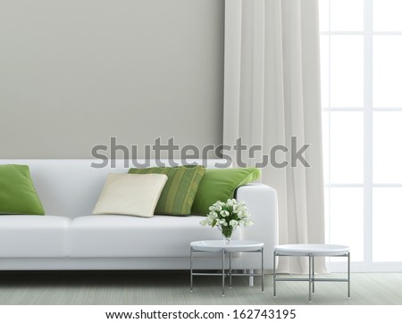 Beautiful Living Room With White Sofa
