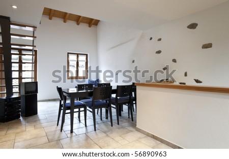 beautiful loft - stock photo