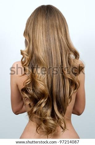 Beautiful long hair /woman - stock photo
