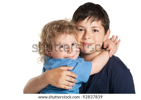 beautiful lovely brothers - stock photo