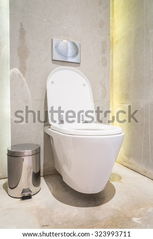 Beautiful luxury bathroom and toiley interior