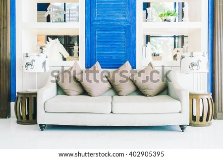 Beautiful luxury Decoration living room interior - Filter effect processing - stock photo