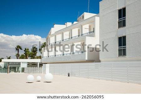 Beautiful luxury hotel on Cyprus - stock photo