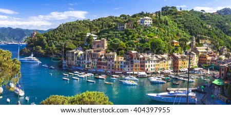 beautiful luxury Portofino - Liguria, Italy - stock photo