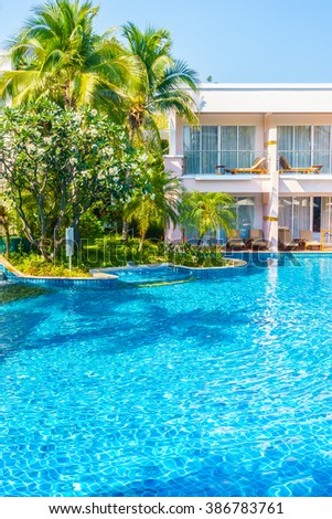 Beautiful luxury Swimming pool in hotel resort