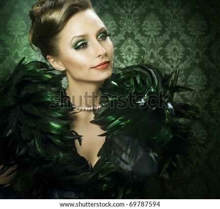 Beautiful Luxury Woman - stock photo