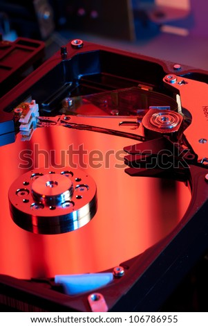 Beautiful machined parts inside a magnetic drive - stock photo