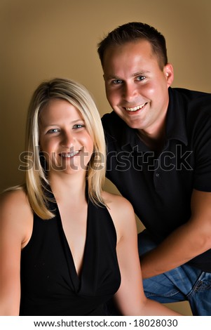 Beautiful man and woman - portrait of couple.