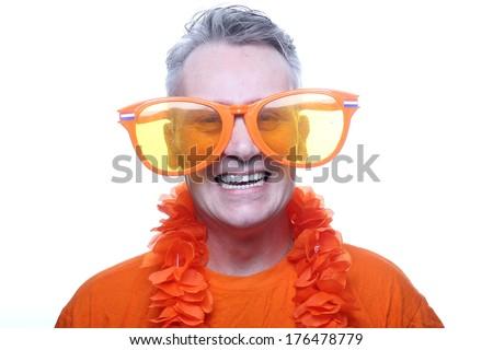 Beautiful man posing - stock photo