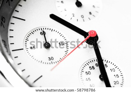 Beautiful Man watch with white background. Close up photo. - stock photo