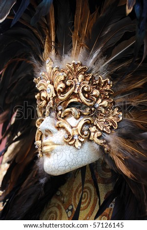 Beautiful mask for carnival - stock photo