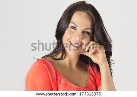 Beautiful Mature Latin Woman - stock photo
