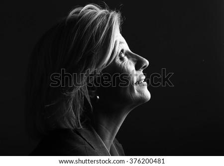 Beautiful mature woman - stock photo