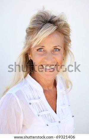 Beautiful mature woman. - stock photo