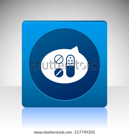 Beautiful Medical SMS Tablets web icon - stock photo