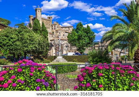 beautiful medieval villages of Italy - Bolsena - stock photo