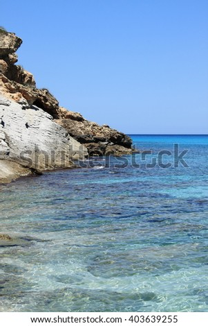 Beautiful mediterranean beach in Mallorca, Spain - stock photo