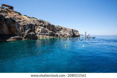 Beautiful Mediterranean seascape - stock photo