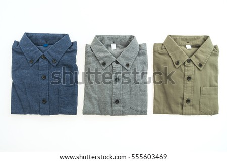Beautiful men fashion shirt for clothing isolated on white background