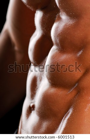 Beautiful men torso. Color image. Health lifestyle.