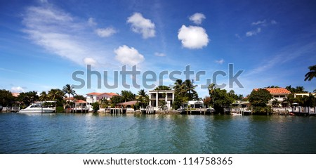Beautiful miami landscapes. Travel destination. - stock photo