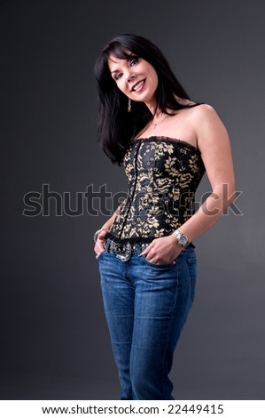 Beautiful mid-adult woman - stock photo