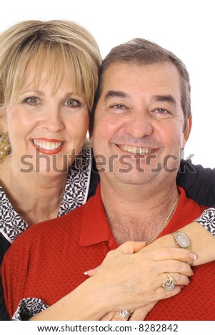 beautiful middle aged couple - stock photo