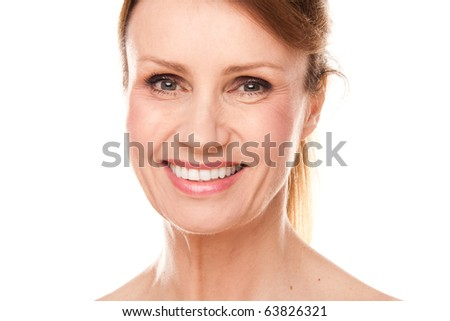 beautiful middle-aged woman - stock photo