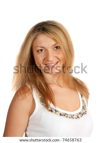 beautiful middle-aged woman - stock photo