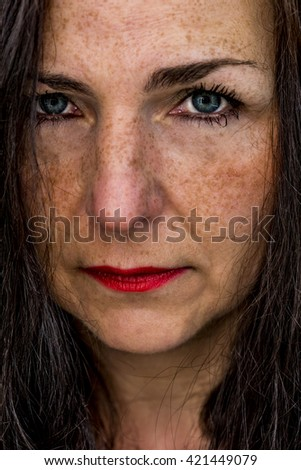 beautiful middle aged woman portrait