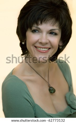Beautiful middle-aged woman with a smile