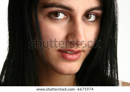 Beautiful middle eastern woman close up. - stock photo