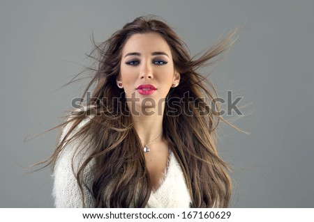 Beautiful model posing for the camera - stock photo