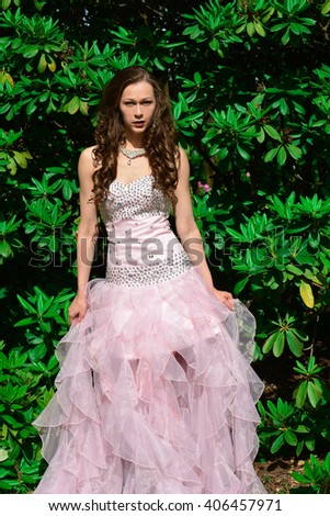 beautiful model with dress with sequins