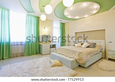 beautiful modern apartment interior - stock photo
