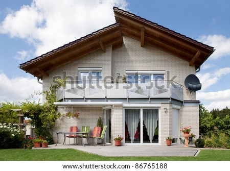 Beautiful modern dream home - stock photo