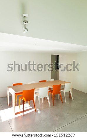 Beautiful modern house, view dining room