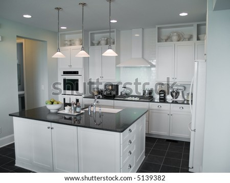 centre island kitchen beautiful modern kitchen center island stock photo 2054