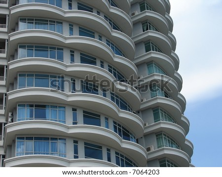 Beautiful Modern skyscraper in Asia - stock photo